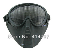 Free Shipping Skeleton Skull Bone Airsoft Full Face Protect CS Mask Halloween Party Sport Mask Black / Army Green D0148