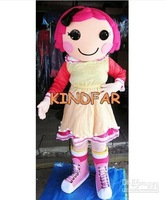 New Hot sale!! Lalaloopsy Mascot Costume Girl Fancy Dress Party Suit Free Shipping