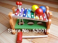 New arrival  child wooden musical instruments toy serinette tiger music free shipping
