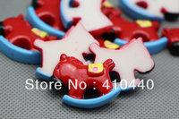 "New Red hobbyhorse FlatBack Resins Hair Bow Scrapbooking Embellishment 1"" Free shipping"