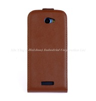 High Quality Mobile Phone Pouch Cover Leather Case for HTC One S Brown Free Shipping