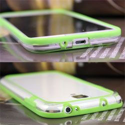 1 piece wholesale New 2013 items Free Shipping For samsung   i9500   galaxy s4  two-color bumper  cell phone cases cover