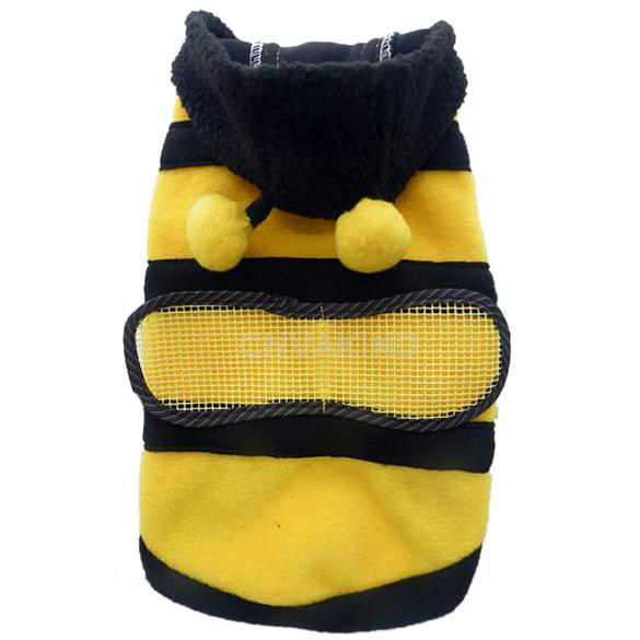 #Cu3 Dog Cat Pet Supplies CuteBumble Bee Dress Up Costume Apparel Coat Clothes(China (Mainland))