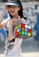 magic cube bag cosmetic bag handbag women's handbag hot cute women totes free shipping korean style
