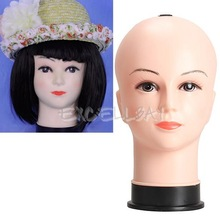 Real Female Mannequin Head Model Wig Hat Jewelry Display Cosmetology Manikin E1X