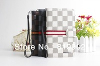 Classical Luxury PU Leather Wallet Case with card holder For Samsung Galaxy Note 2 II N7100