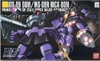 Free Shipping Bandai 1/144 HGUC 059 Dom Rick-Dom Gundam Model Building kits robot toys