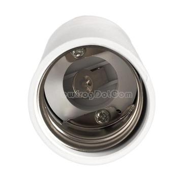E40 Extended Socket Base Light Bulb Lamp Adapter Converter Holder  White  NI5L
