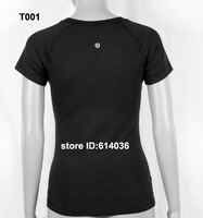 High Quality Lululemon Lululemon Black Cotton T shirt TShirt Tops & Tees in a Big Order Free Shipping By EMS for Wholesale Price