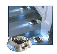 1 PC Free Shipping Outdoor Aluminum 6LED  Solar Road Stud Light Signal Indicator Landscape Lamp