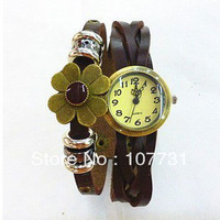 Min.order is $10 (mix order) Free Shipping! 2013Fashion Vintage Alloy Leather Women Watch Bracelets Wholesale