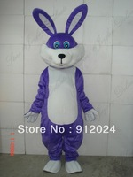 Halloween Purple Easter bunny Bug Rabbit Adult  Size Mascot Costume Fancy Dress  Free Shipping