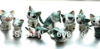 Free Shipping! New Arrival 9Pcs/Lot Of Toys Cats /With Different Lovely Faces /Delicate And Small /As A Gift