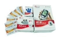 Free shipping include Fast Testing Blood glucose meter  blood sampling pen 50 sheet Test paper 50 support Blood sampling needle
