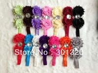 hot sale children infant baby girls chiffon flower hairband accessories headband hair band elastic lace children head