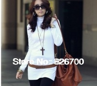 Fashion clothes 2013 Stylish Pure Color Long Sleeve High Neck Slim Sweater