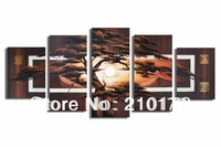 Free Shipping!!5pcs MODERN ABSTRACT HUGE WALL ART OIL PAINTING ON CANVAS LA5-002
