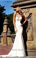 2013 New Custom Elegant Mermaid Sweetheart One Shoulder Chiffon Evening Dress