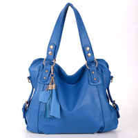 New casual women  designer handbag genuine leather shoulder bag Tassel messenger bag brand handbags