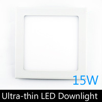 Ultra thin design 15W LED ceiling recessed grid downlight / square panel light 190mm, 10pcs/lot free shipping