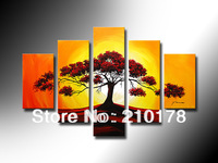 Free Shipping!!5pcs MODERN ABSTRACT HUGE WALL ART OIL PAINTING ON CANVAS LA5-014