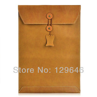 Magic Folder Sleeve Genuine Cow Leather Case Bag for Macbook 11.6/13.3/15.4 inch
