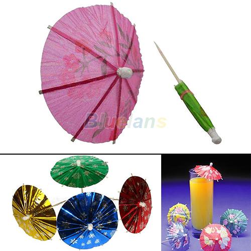 50 pcs Paper Cocktail Parasols Umbrellas drinks picks wedding Event & Party Supplies Holidays luau sticks Free Shipping 04AX(China (Mainland))