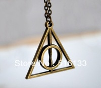 "Free Shipping 20 strands Harry potter jewelry Deathly Hallows Charm Pendants Necklace 18"" Wholesales"