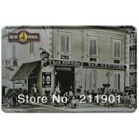 Bar New York Retro Tin signs for decor 11.8'' X 7.87'' YH-01
