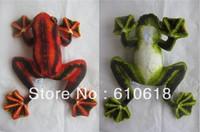 Free Shipping 2Pcs/Lot 2 Colors Flying Frog Stuffed Plush Glass Sucker Toys Dolls Gifts Car Home Decor Toys 1 Pcs