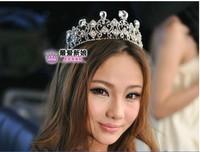 100%new Wedding Bridal CZ Diamantes Crystal tiara crown Headband HGY0948
