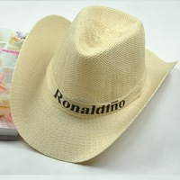 Cowboy hat fedoras men's beach hat summer big sun-shading wide-brimmed hat summer strawhat female male