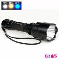Shenhuo c8t6 glare flashlight cree q5 charge xenon lamp