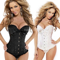 HK Free Shipping Sexy Uniform Lace Up Corset Costume Burlesque Top Bustier Basque