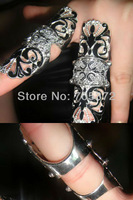 2013 Free Shipping Sexy Bending Metal Joint Ring Jewelry Party Accessories Fleur de Lis Finger Ornament Brand New