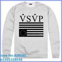 Free Shipping Cheap VSVP 2014 new arrival Vsvp asap rocky comme des fuckdown charcoa usa o-neck pullover sweatshirt