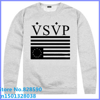 Free Shipping Cheap VSVP 2014 new arrival Vsvp asap rocky comme des fuckdown charcoa usa o-neck pullover sweatshirt