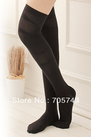 Free shipping via Fedex 100pair/lot  elastic compression stockings above knee leggings close-toed thigh high stockings