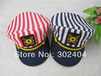 Cool Blue/red stripe badge navy cap fashion Military Hats