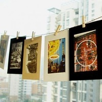 Free shipping 6 inch 10PCS/LOT Creative DIY hanging paper photo frame photo wall combined with hemp rope clip Picture frame 2070