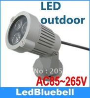IP65 300LM 3W Warm & White 3*1W LED Spot Light Garden Lawn Lamp AC 85V-265V
