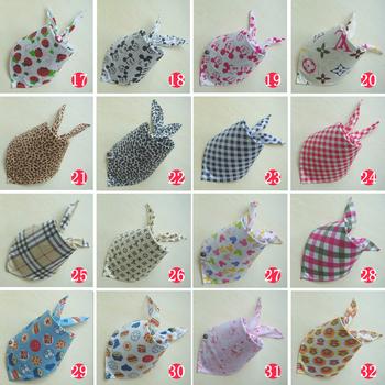 Wholesale 10pcs/lot High Quality Fashion Cheap Cotton Baby Bibs Multi-Color Infant Print Head Scarf For Boys Girls HTSJJ-001
