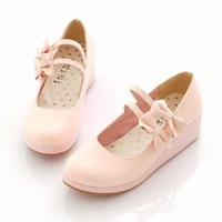 Cosplay shoes lolita princess bow platform shoes wedges single shoes plus size shoes