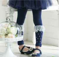 2013 autumn new arrival hot sell  Child legging gilrs trousers skinny pants pencil pants  pearl gauze leggings
