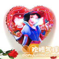 Free Shipping Snow White Heart Shape Balloons Filled Helium Gas Using Party&Wedding Occasion