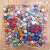 wholesale free shipping 10mm  10 style  Mix Color 50  PC Cz Crystal Disco Handmade Shamballa Beads fit Adjustable Bracelet V111