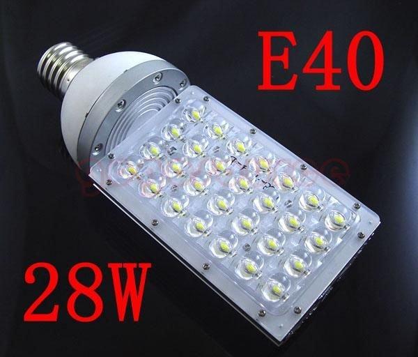 Hotsale 2pcs/lot , E40 White High Power Solar LED Street Light 28W DC12V(China (Mainland))