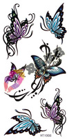 Tattoo stickers waterproof Women butterfly small ht1008