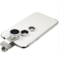 VEENTOOK OSINO 3 in 1 Clip-On Fish Eye Lens+Wide Angle+Macro Lens For Phone iPhone 4 4s 5 Free Shipping