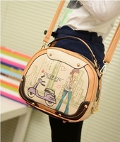 Сумка Retail 2013 Fashion portable magic cube bag summer tote bag personalized japanned leather small bag BAF007